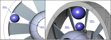 Figure 1. Drawings of the OpenHydro turbine blade assembly
