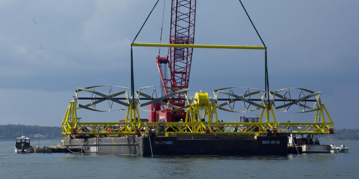 ORPC TidGen Cross Flow Tidal Turbine