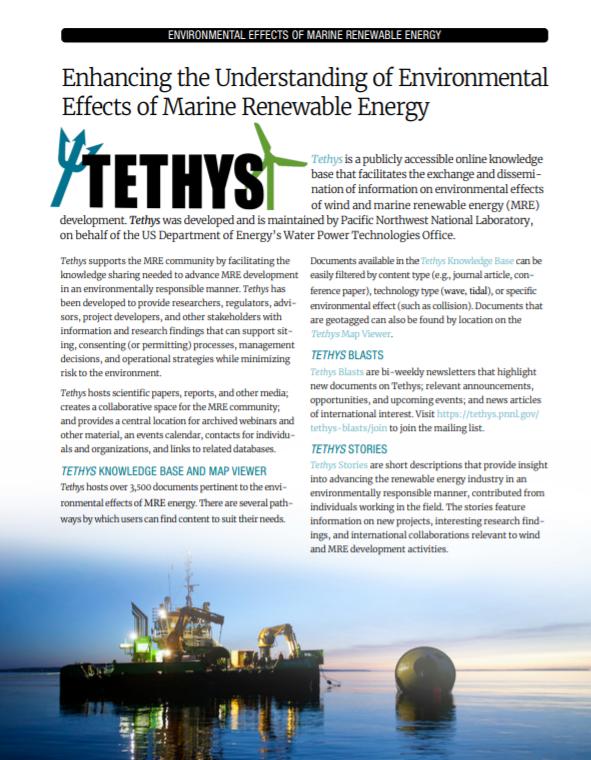 Tethys MRE Fact Sheet