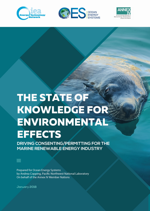 The State of Knowledge for Environmental Effects: Driving Consenting/Permitting for the Marine Renewable Energy Industry