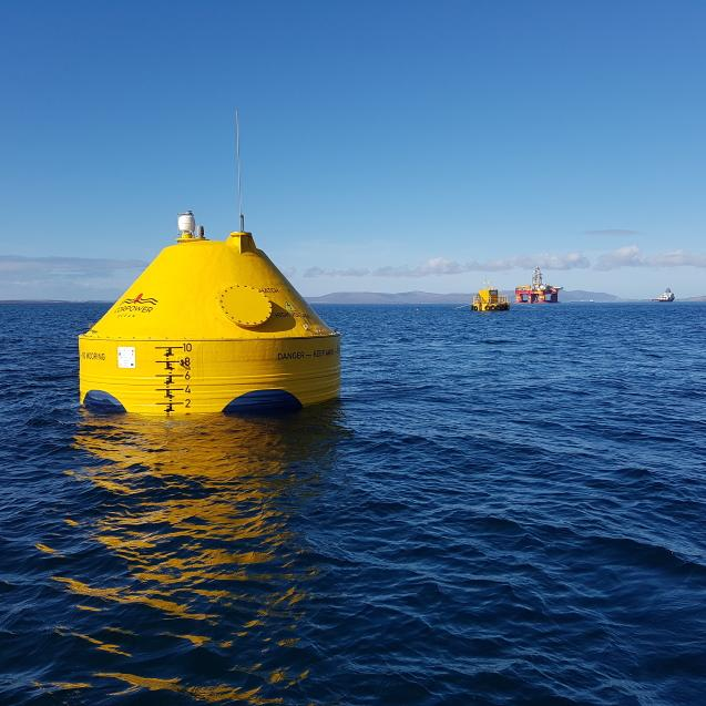 Generating electricity from the sea