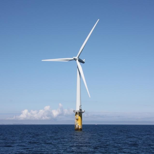 Generating electricity from wind on land and sea